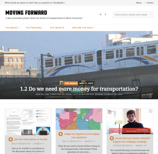 Moving Forward website