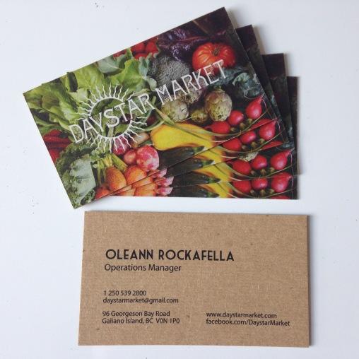 Daystar Market business card design